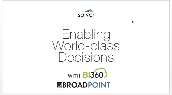 Solver BroadPoitn Webinar Cover Image