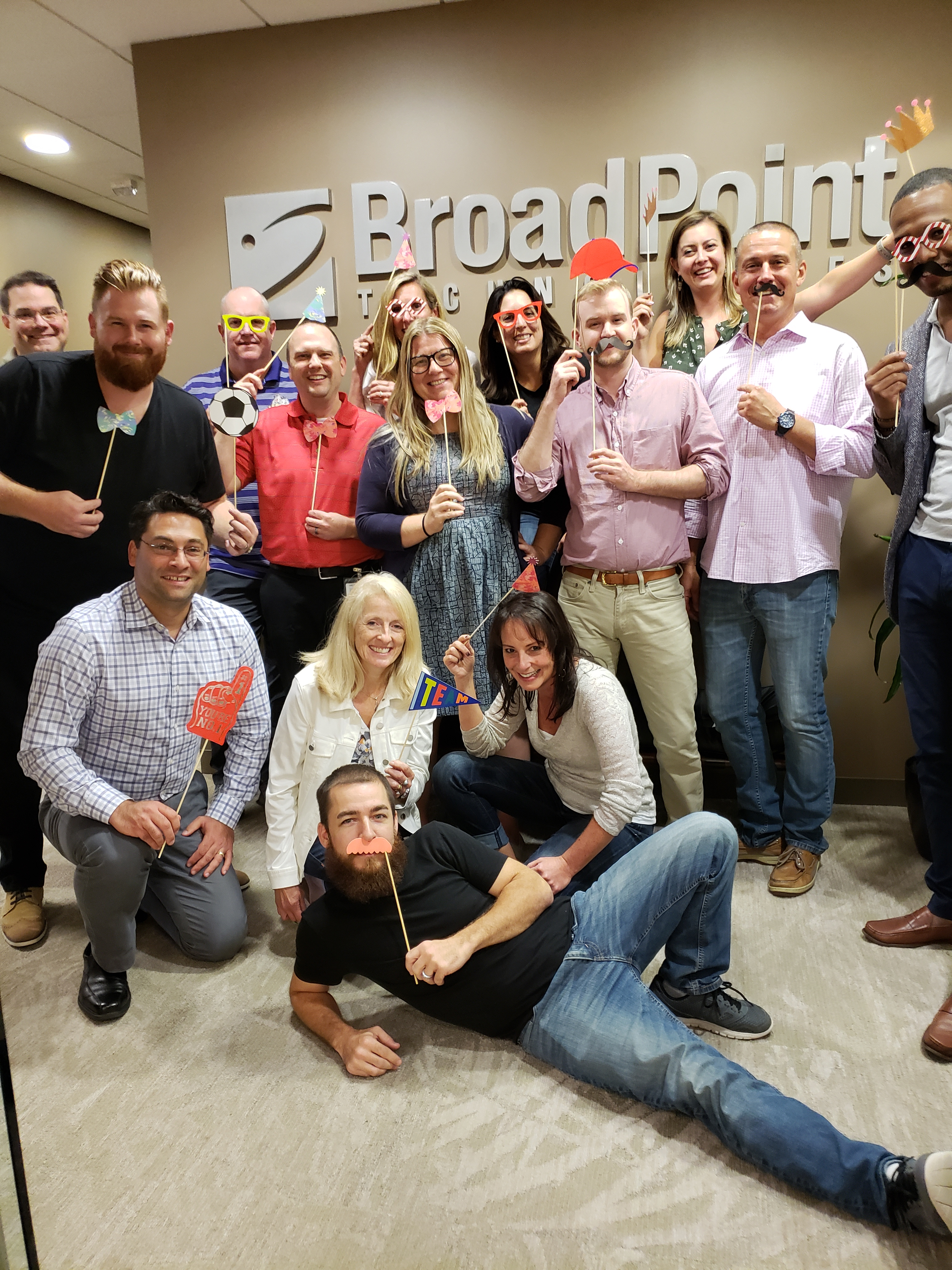 Some of BroadPoint's Microsoft Dynamics ERP and CRM consultants in our Bethesda, MD office.