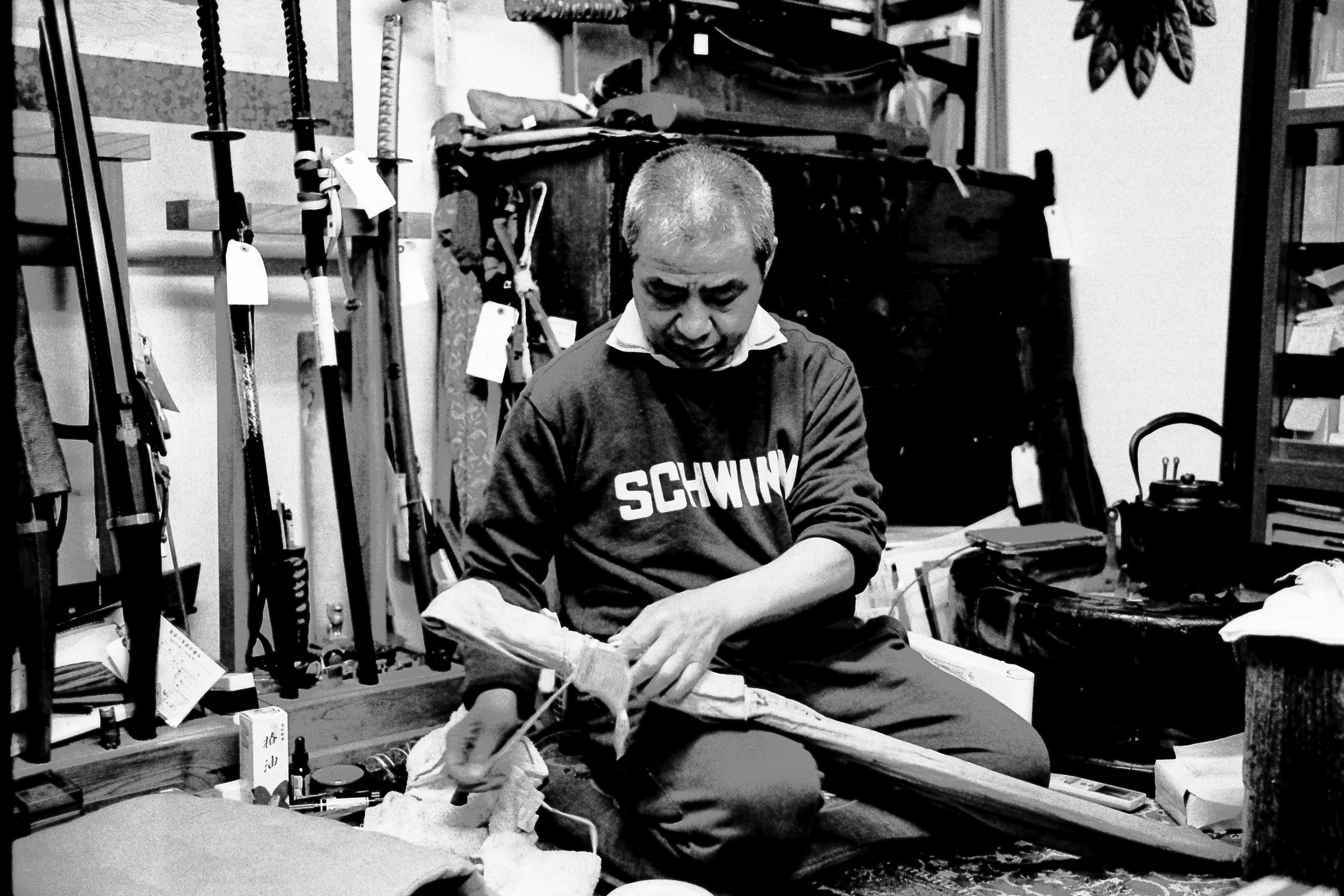 HP5/LeicaM6/Summicron 35  400 year old Samurai Sword from Musashi Province (Terushige Shibahara lineage).