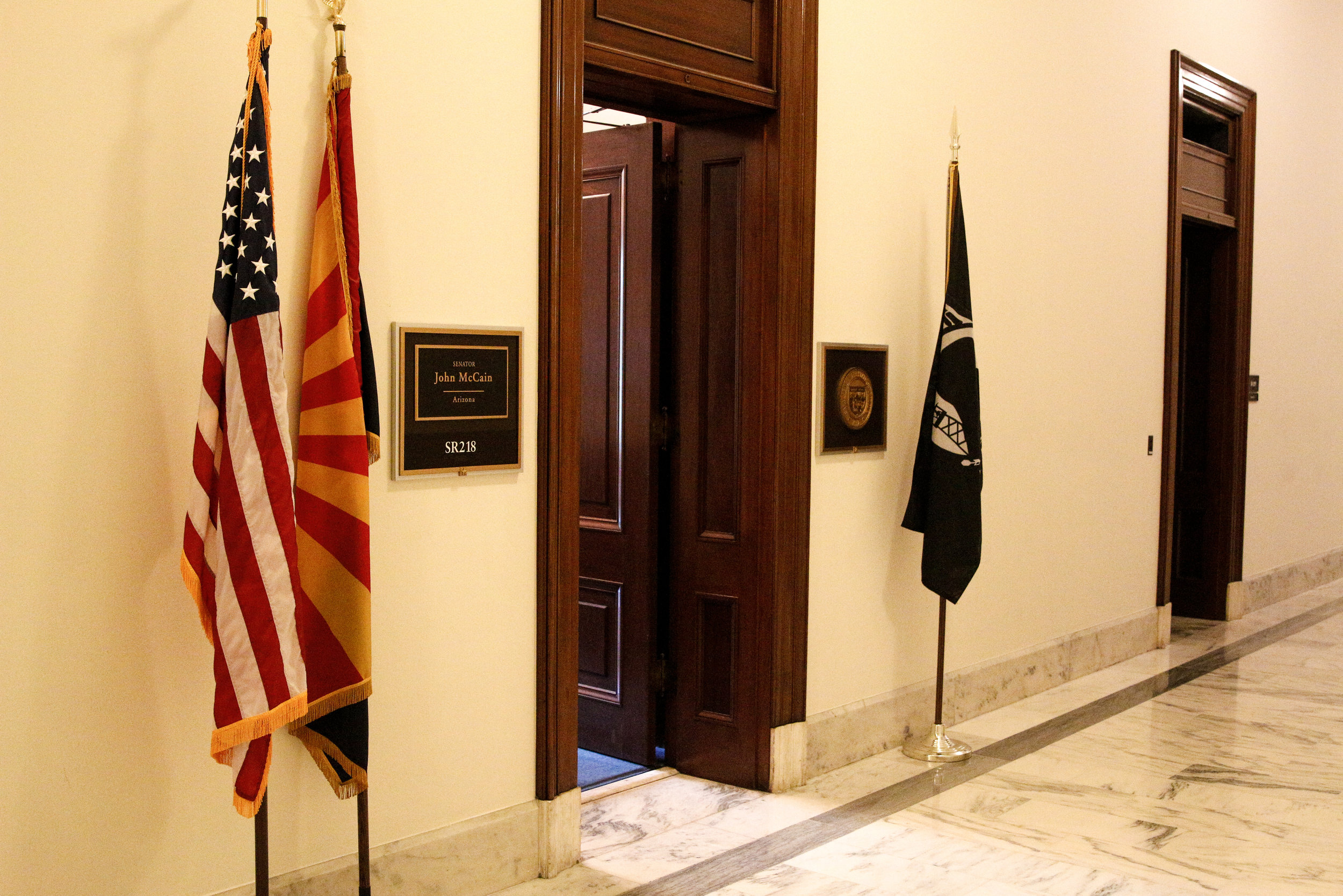Vacant office of Sen. John McCain