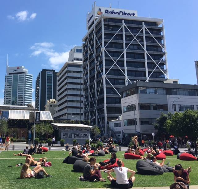 TODAY: Britomart is a place of restaurants, high-end retail, a public square, quality office buildings and of course the train station