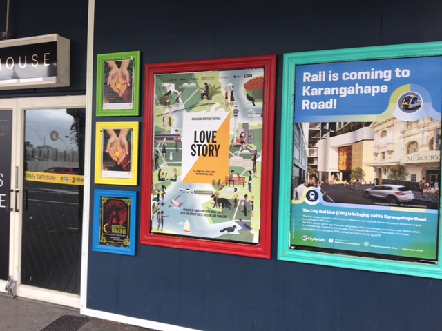 Poster: 'Rail is coming to Karangahape Road'
