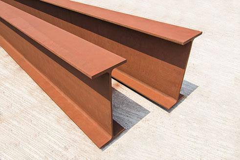 H BEAMS: Wide flange steel H Beams