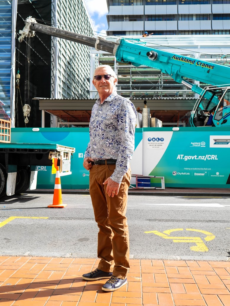FIRST YEAR: CRL project Director Chris Meale checking out construction progress