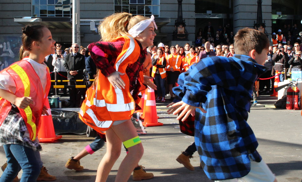 AUCKLAND'S FUTURE: Young performers symbolised the generations that will benefit most from the CRL
