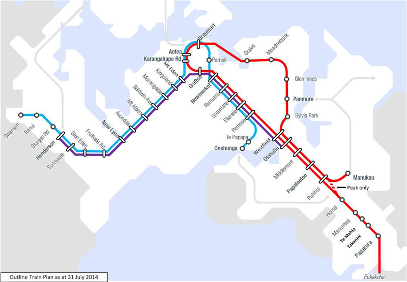 PLAN: This is an indicative rail plan based on the new station layout