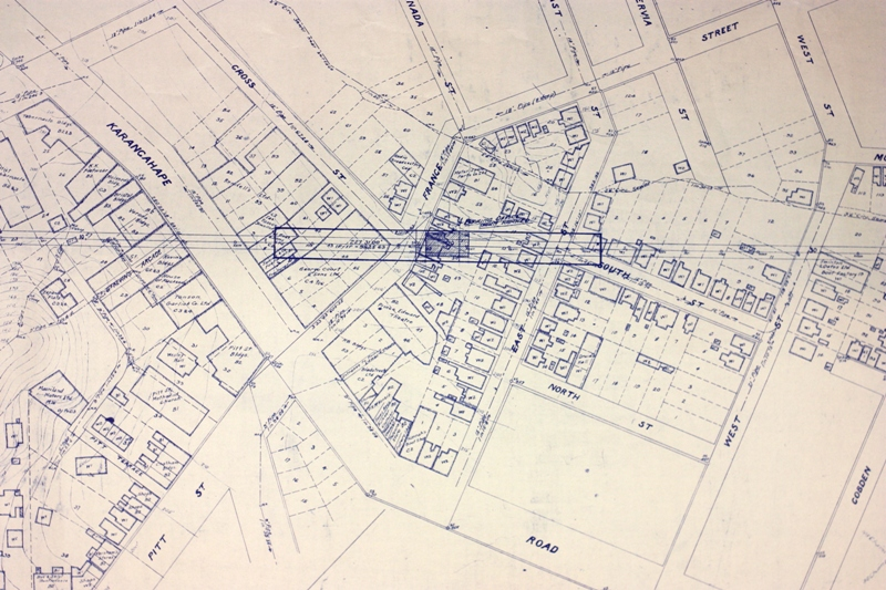 EARLY PLAN: Part of the proposed route detailed in the 1929 Morningside deviation plan