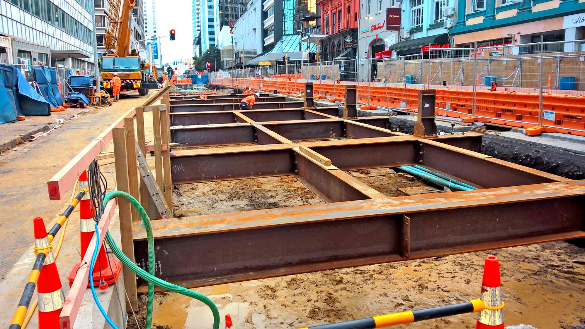 Early CRL construction in Albert Street