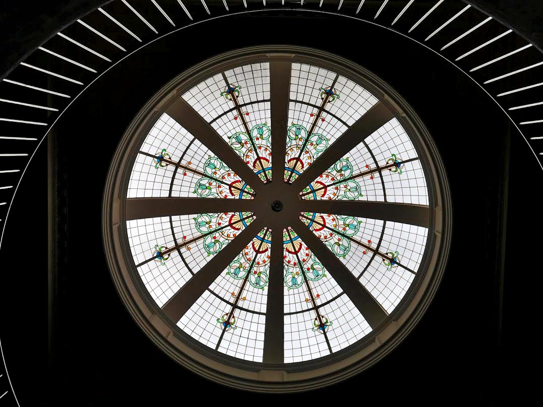 The historic dome in the Chief Post Office building