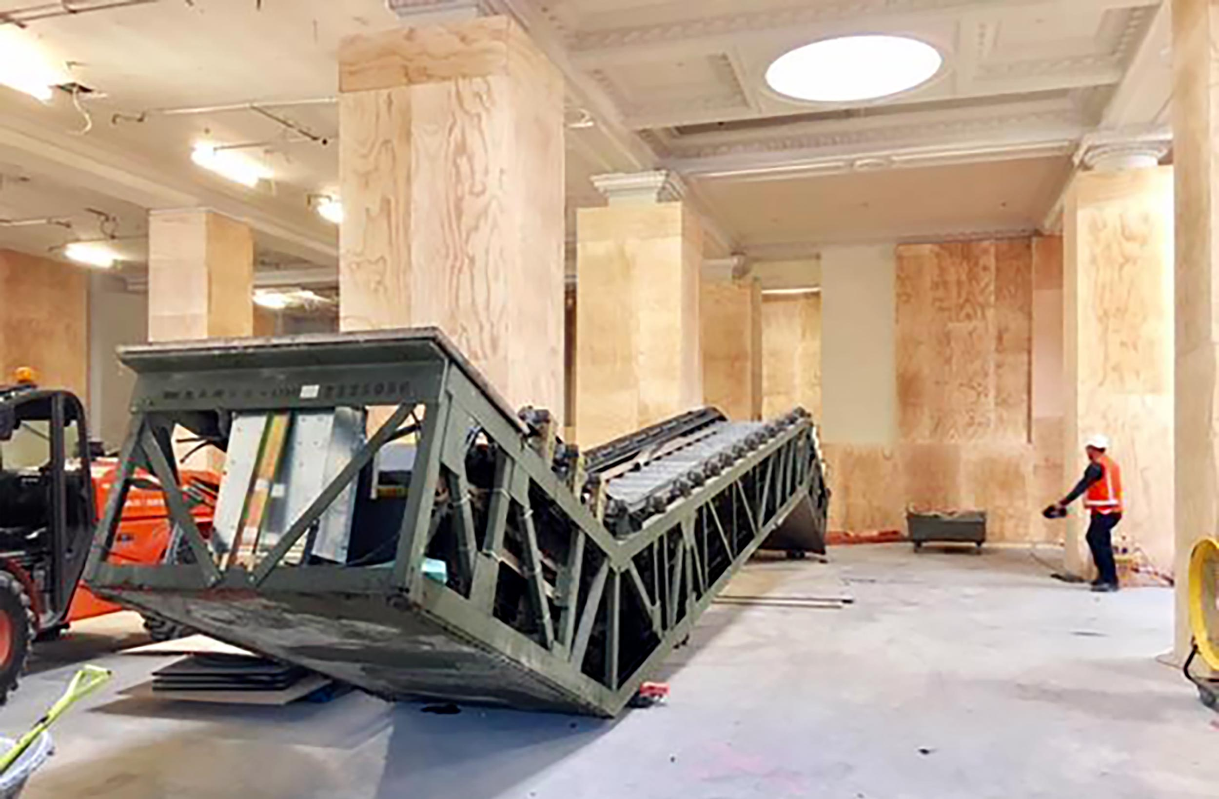 The old escalators in the original Britomart train station. These have been removed as part of the CRL construction.