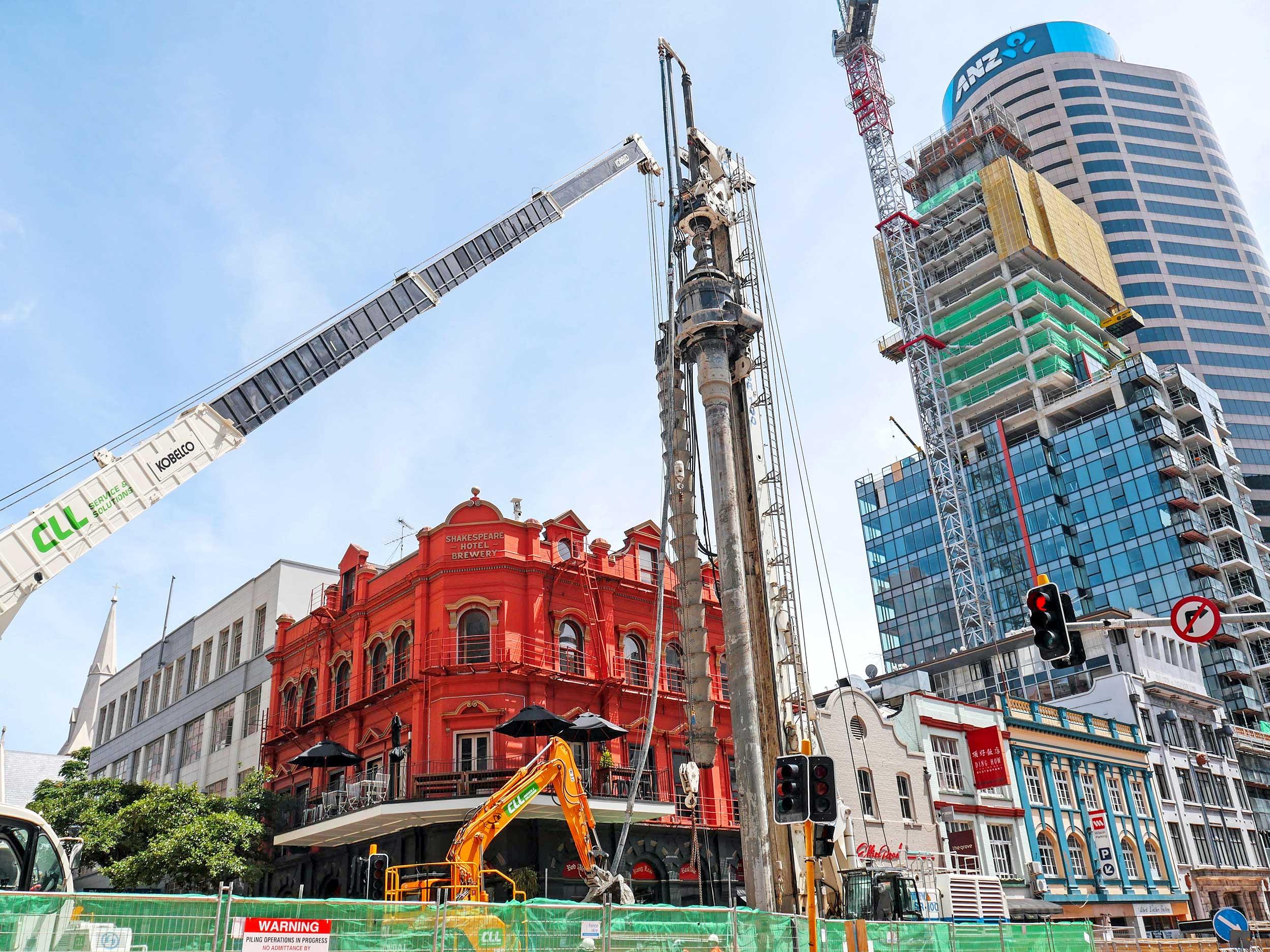 CRL construction Albert Street, near the Shakespeare Hotel.