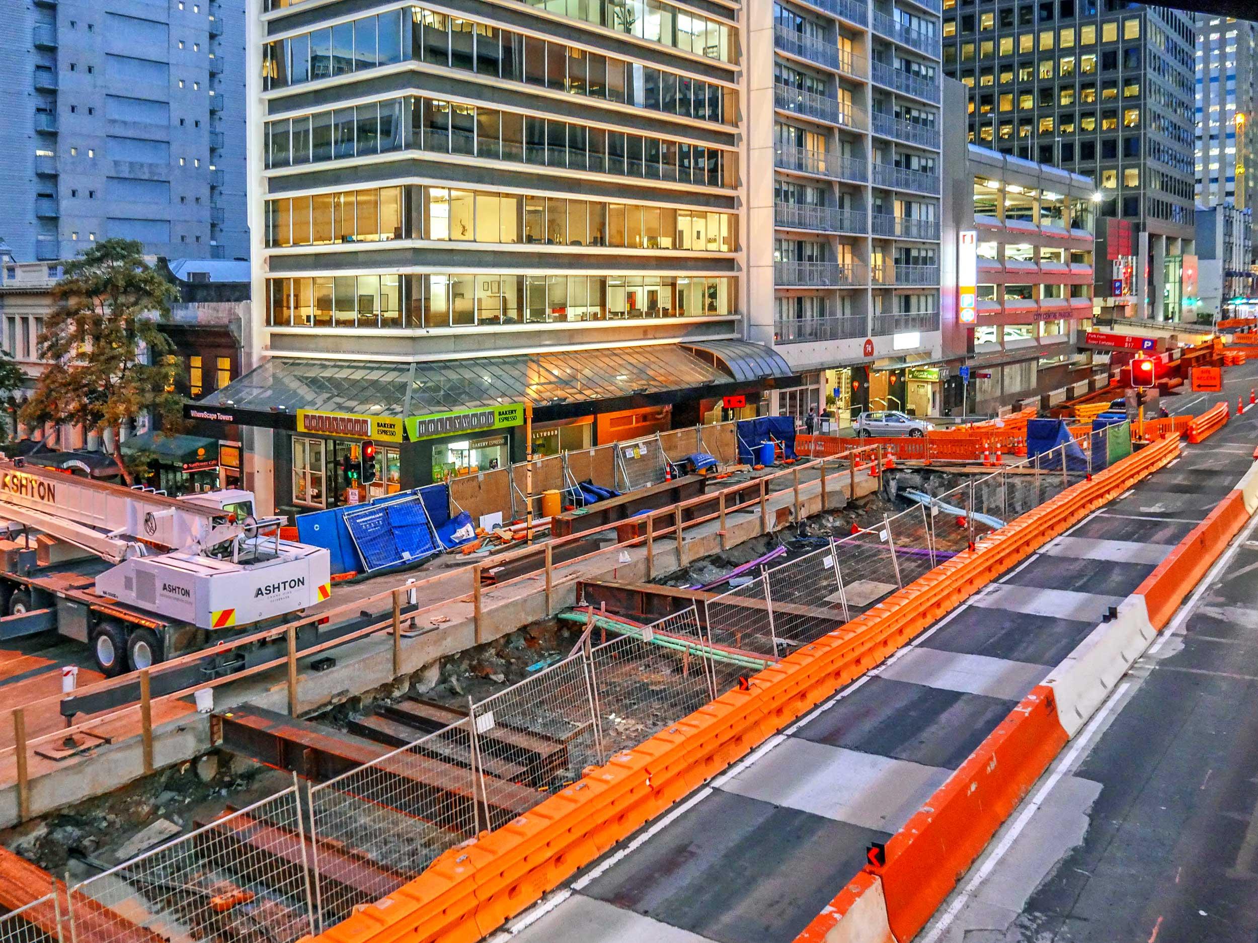 CRL early construction Albert Street
