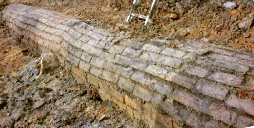 DISCOVERED: Disused brick barrel drain in the CRL construction shaft in Victoria Street looking southeast. (Photo: Clough & Associates Ltd.)