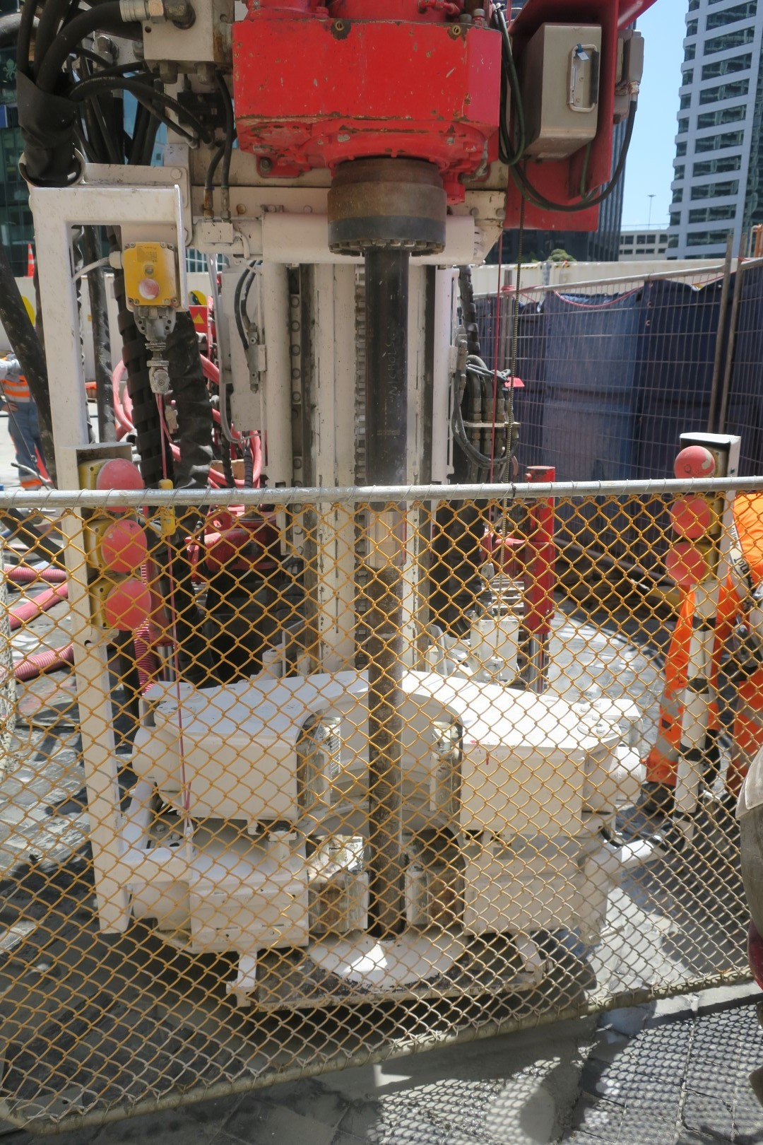 CRL construction work in Lower Queen Street.
