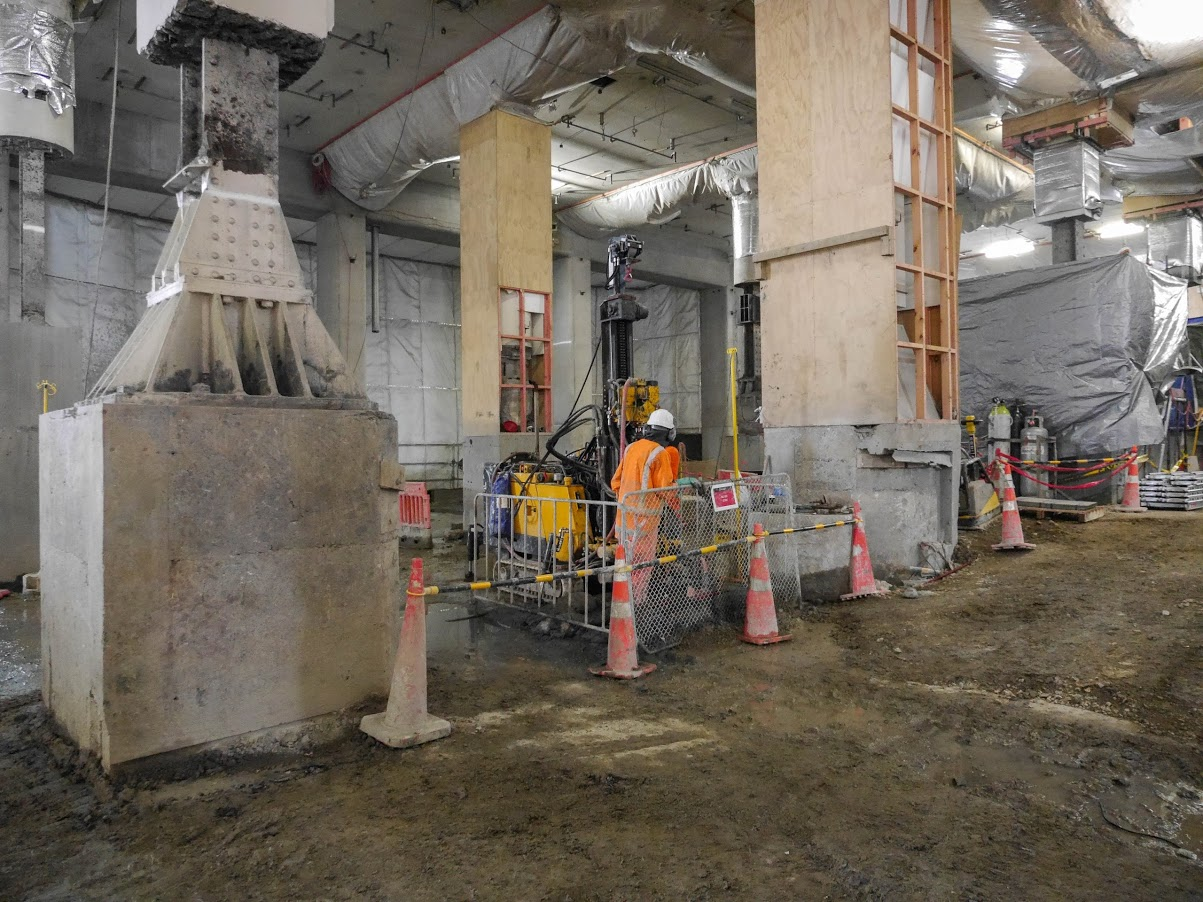 CRL construction inside the Chief Post Office February 2018
