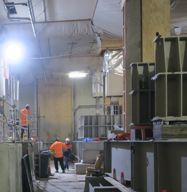 CRL construction inside the Chief Post Office