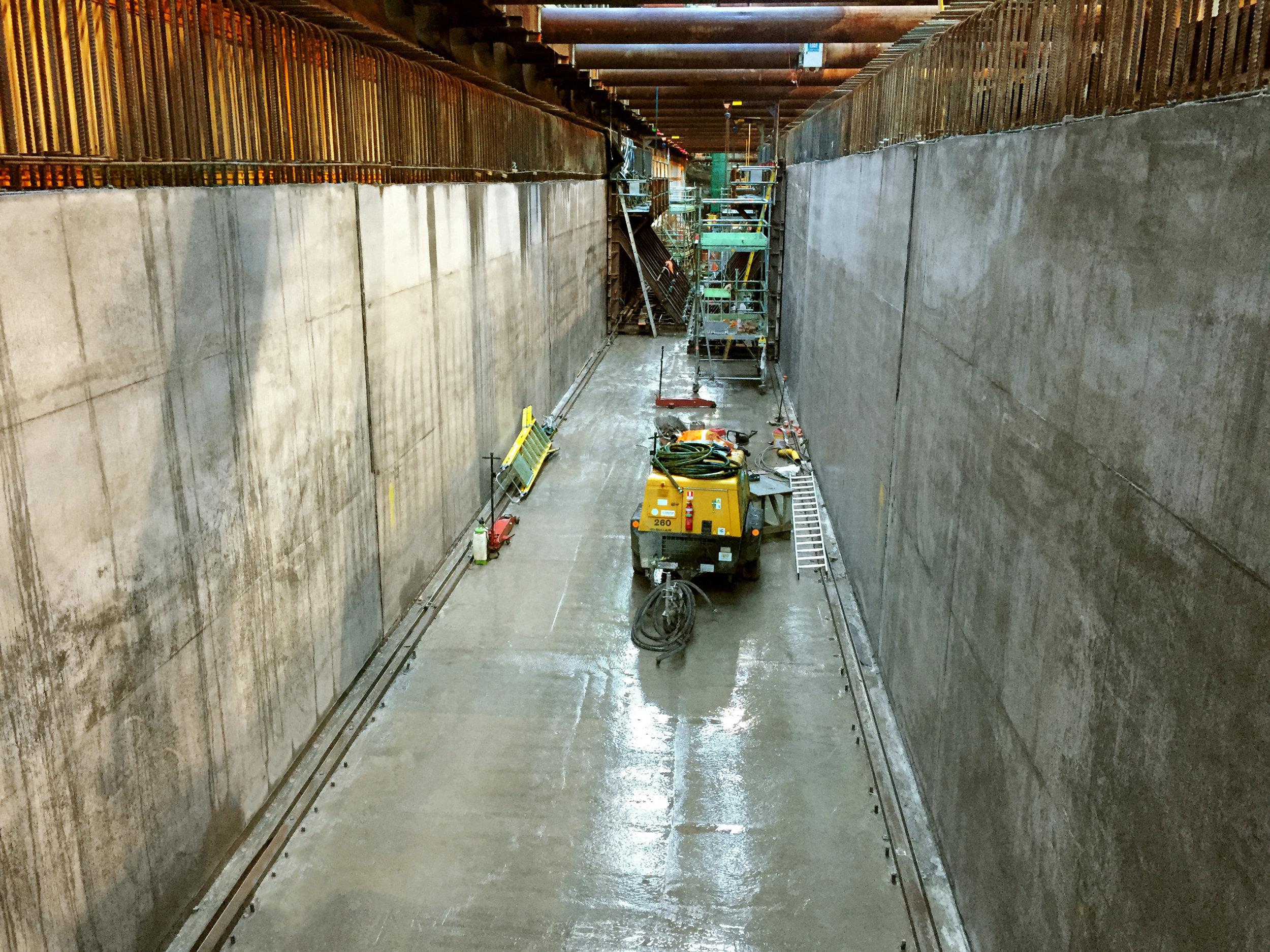 How Albert Street tunnel is looking today, 15 June 2018