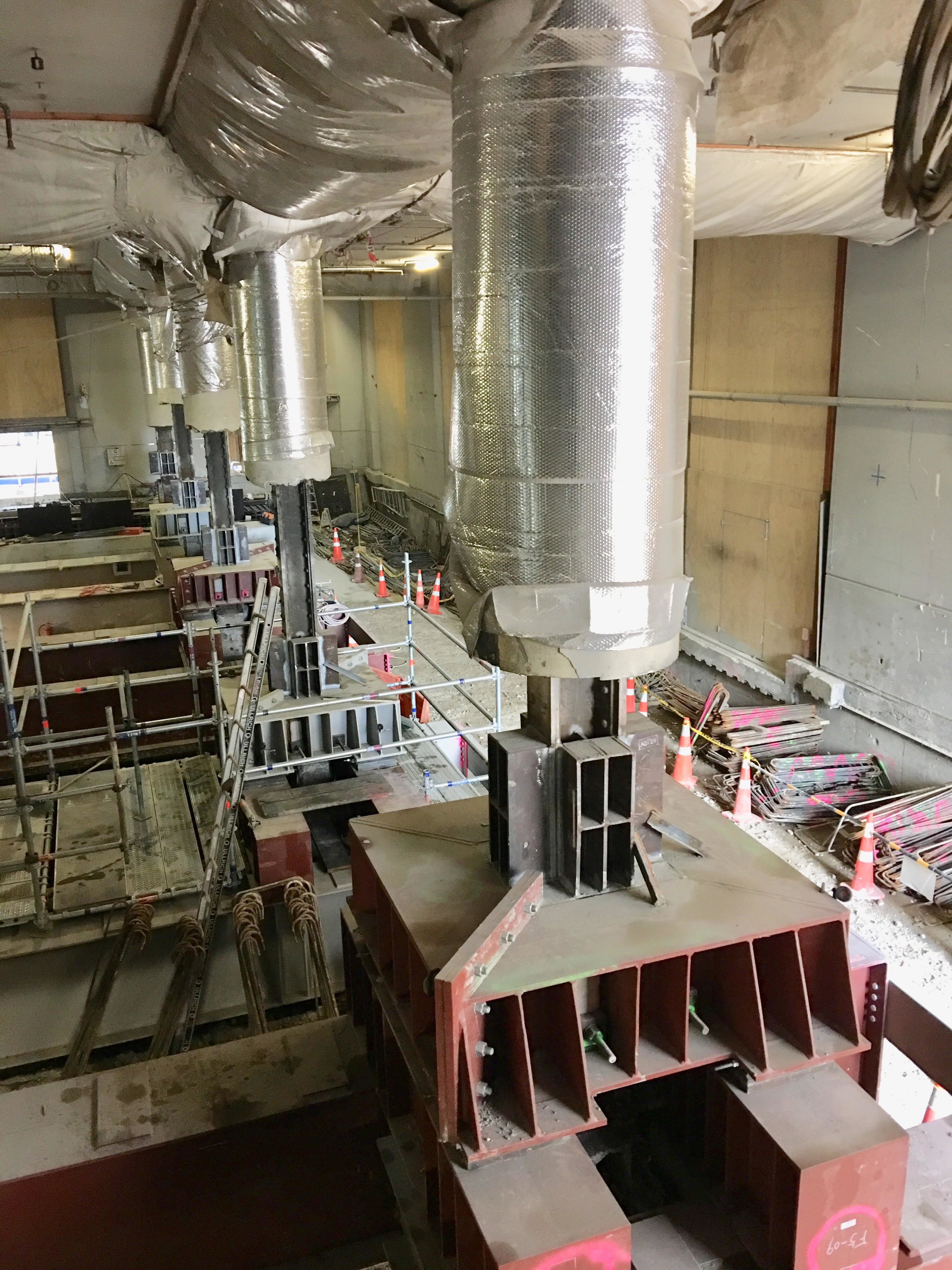 CRL construction inside the Chief Post Office July 2018