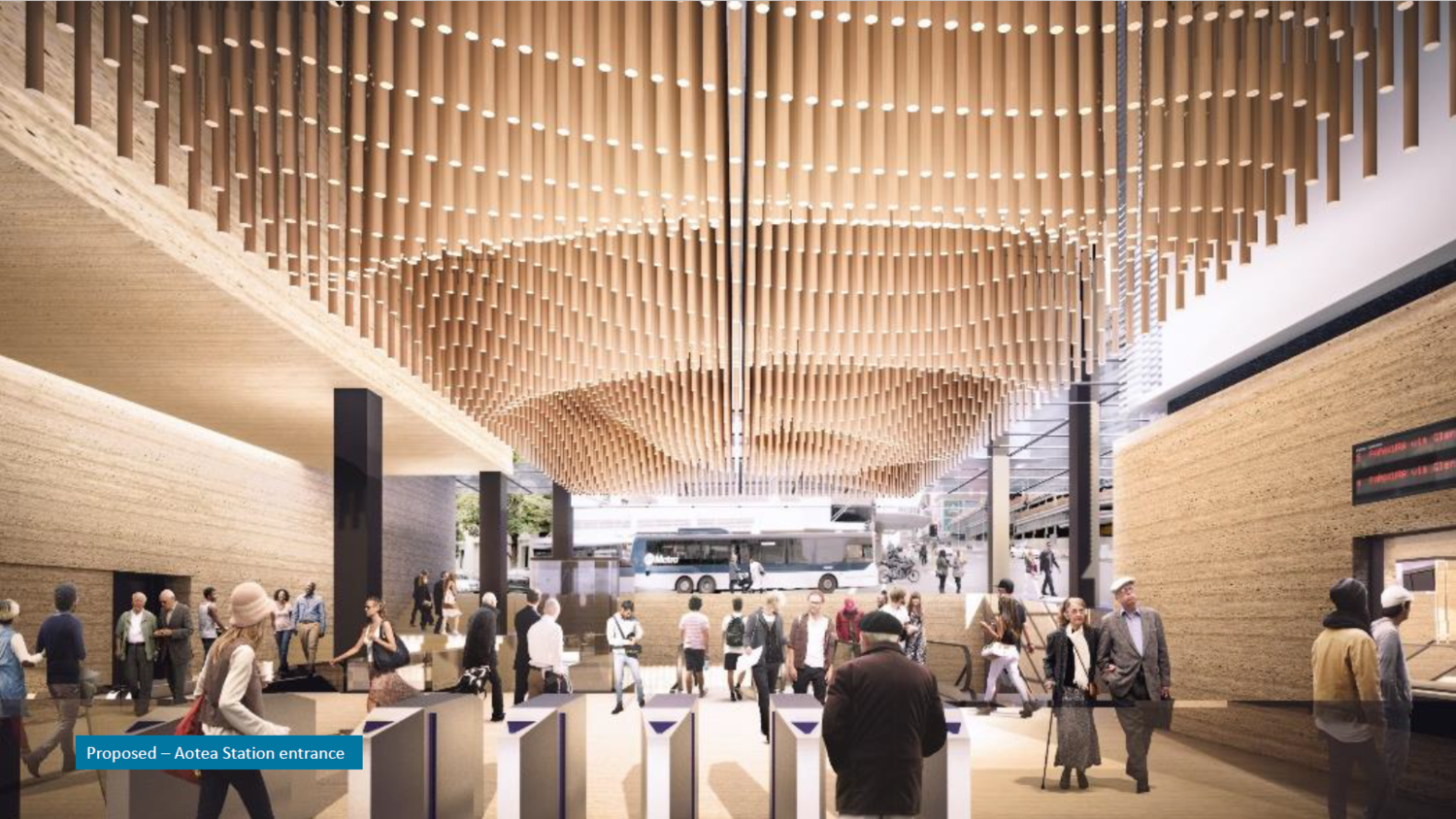 Proposed Aotea Station entrance