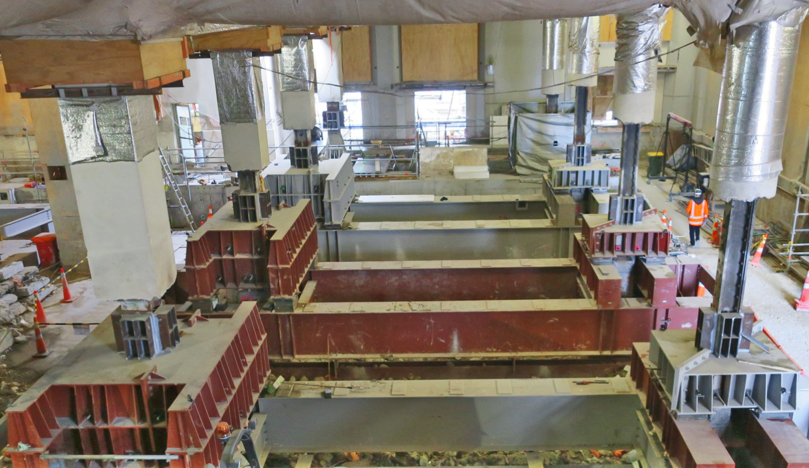 CPO weight transfer onto underpinning frames continues July-Aug 2018
