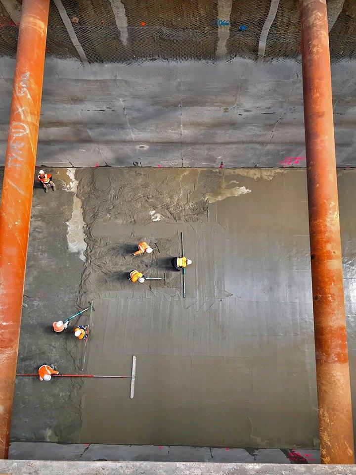 CRL trench construction Albert Street