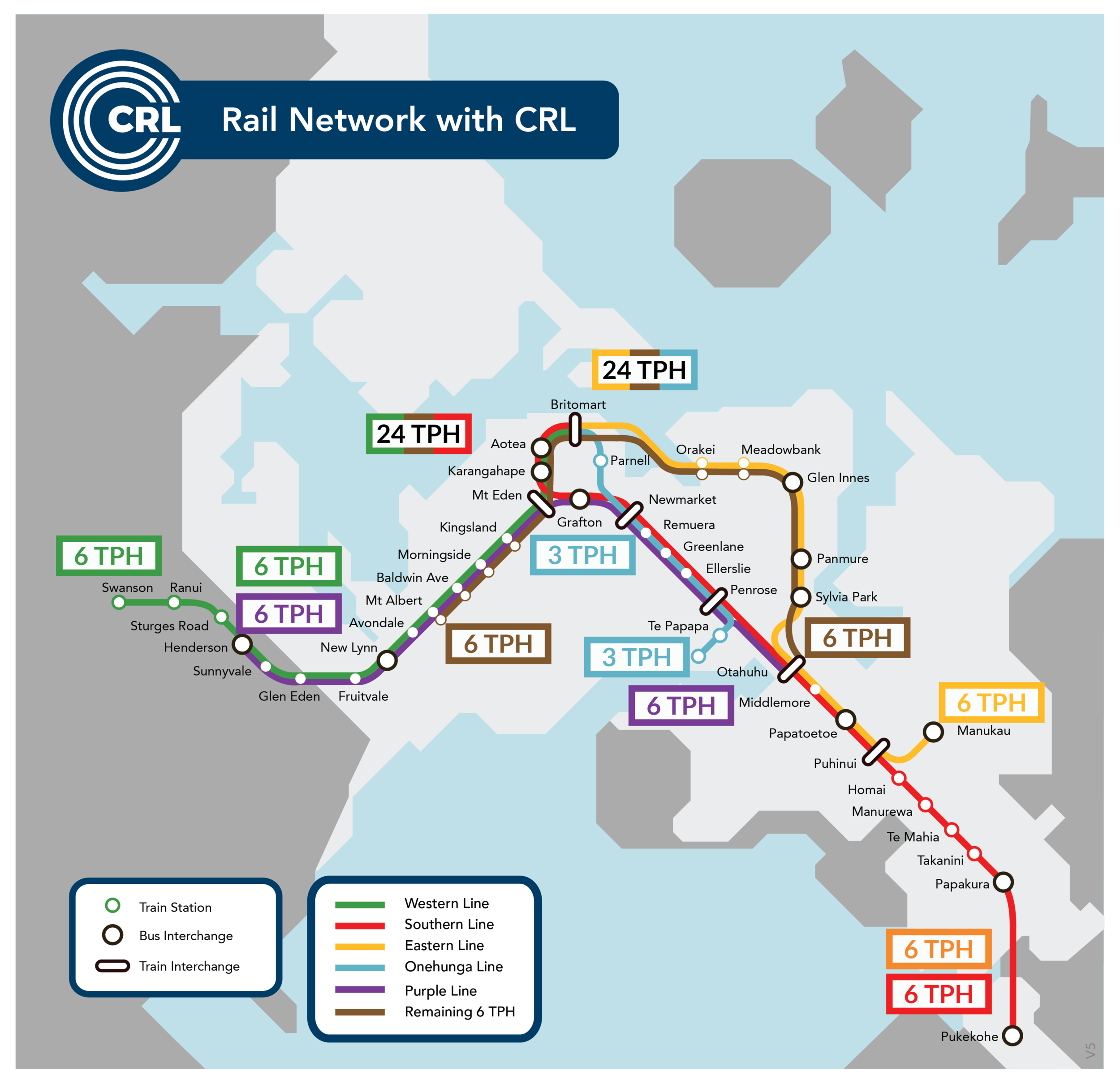 Auckland's future Rail network with CRL (click to enlarge)