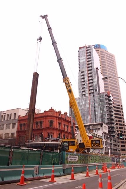CRL trench construction Albert Street near Shakespeare Hotel