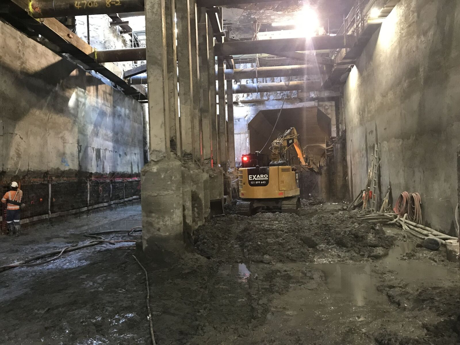 CRL construction in Albert Street near the intersection of Customs Street West 15 November 2018