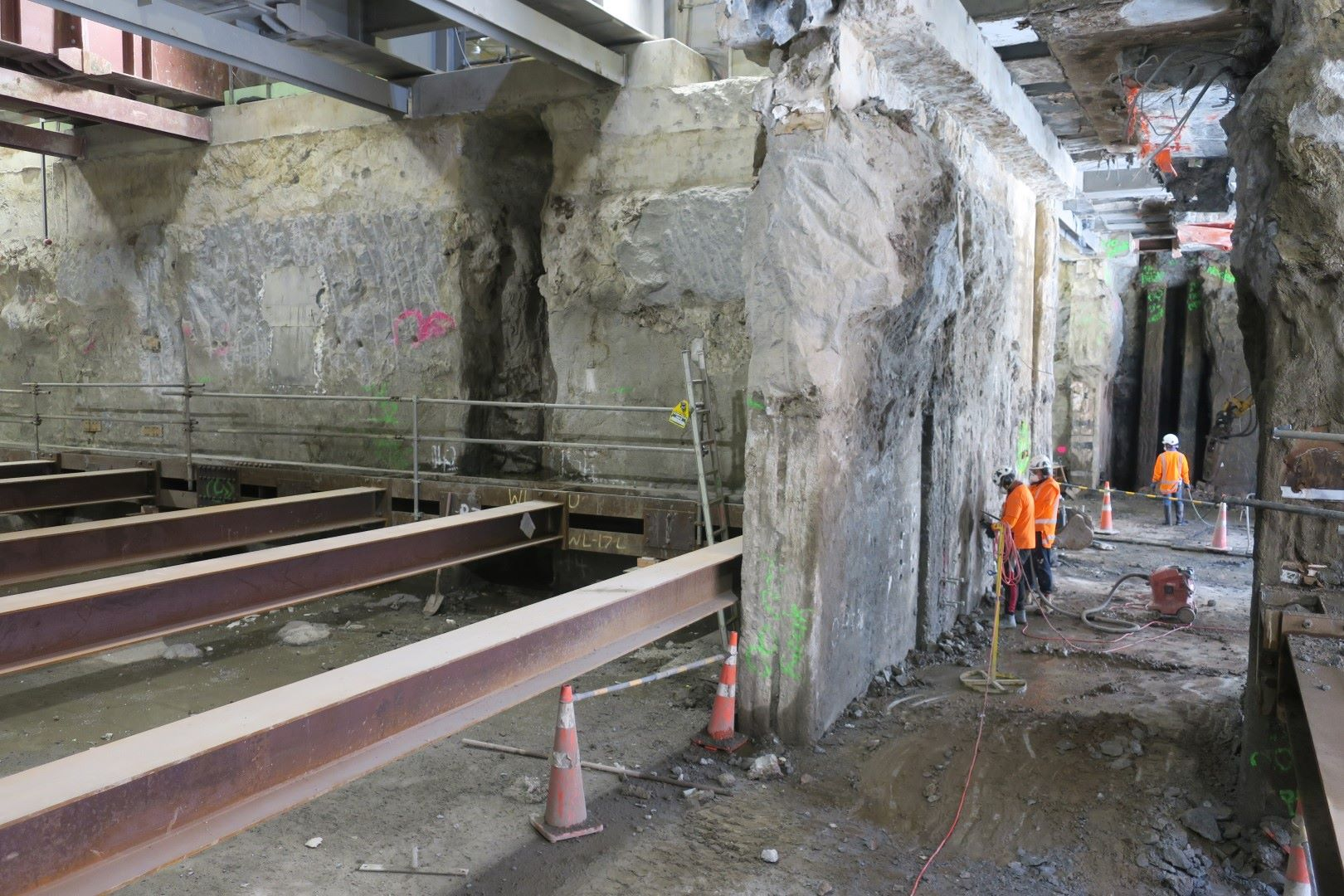 Through to the south trench from the north trench Lower Queen Street November 2018