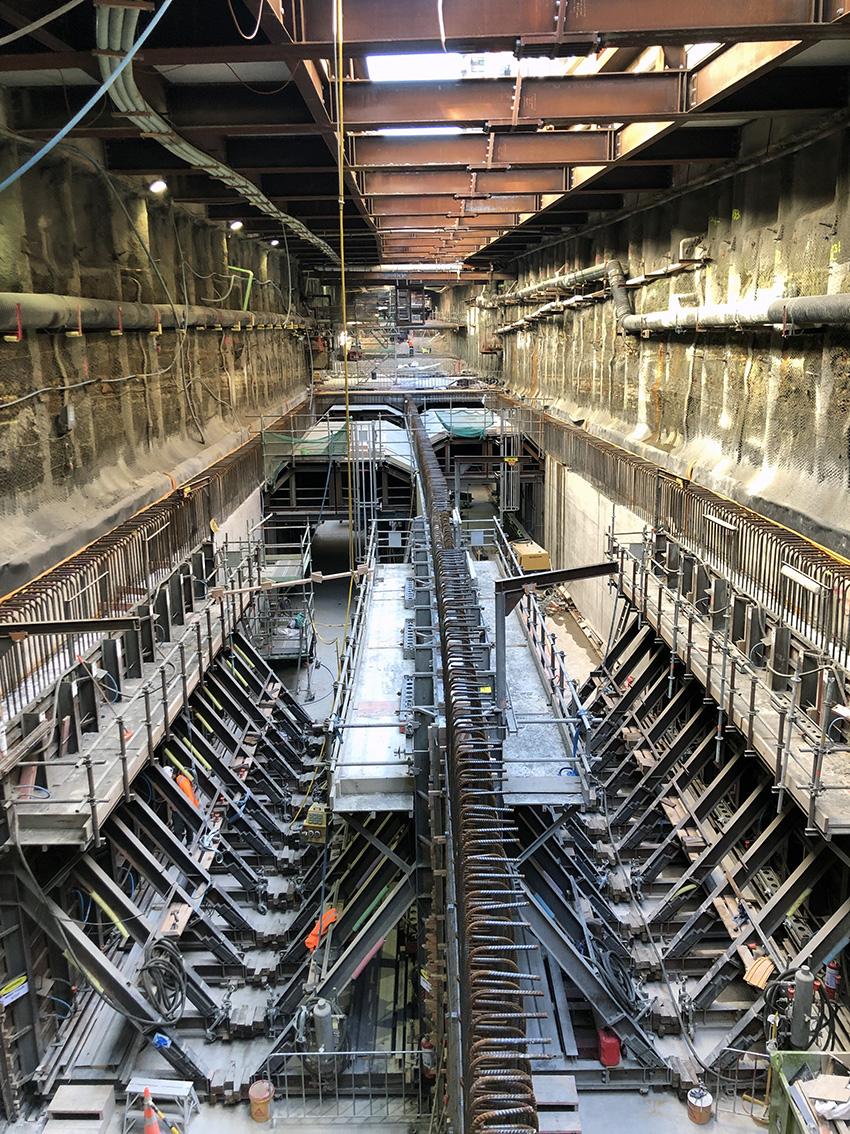 The CRL trench in Albert St 27 Feb 2019