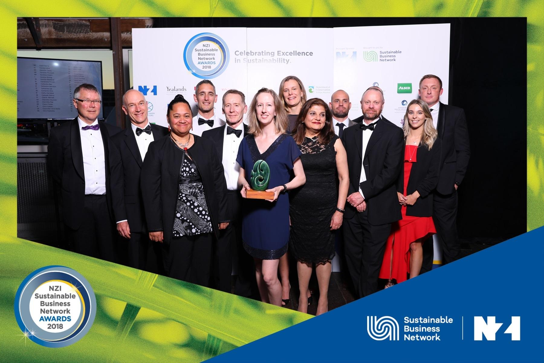 CRL team, award winners of the Sustainable Business Network's Supreme Award 2018