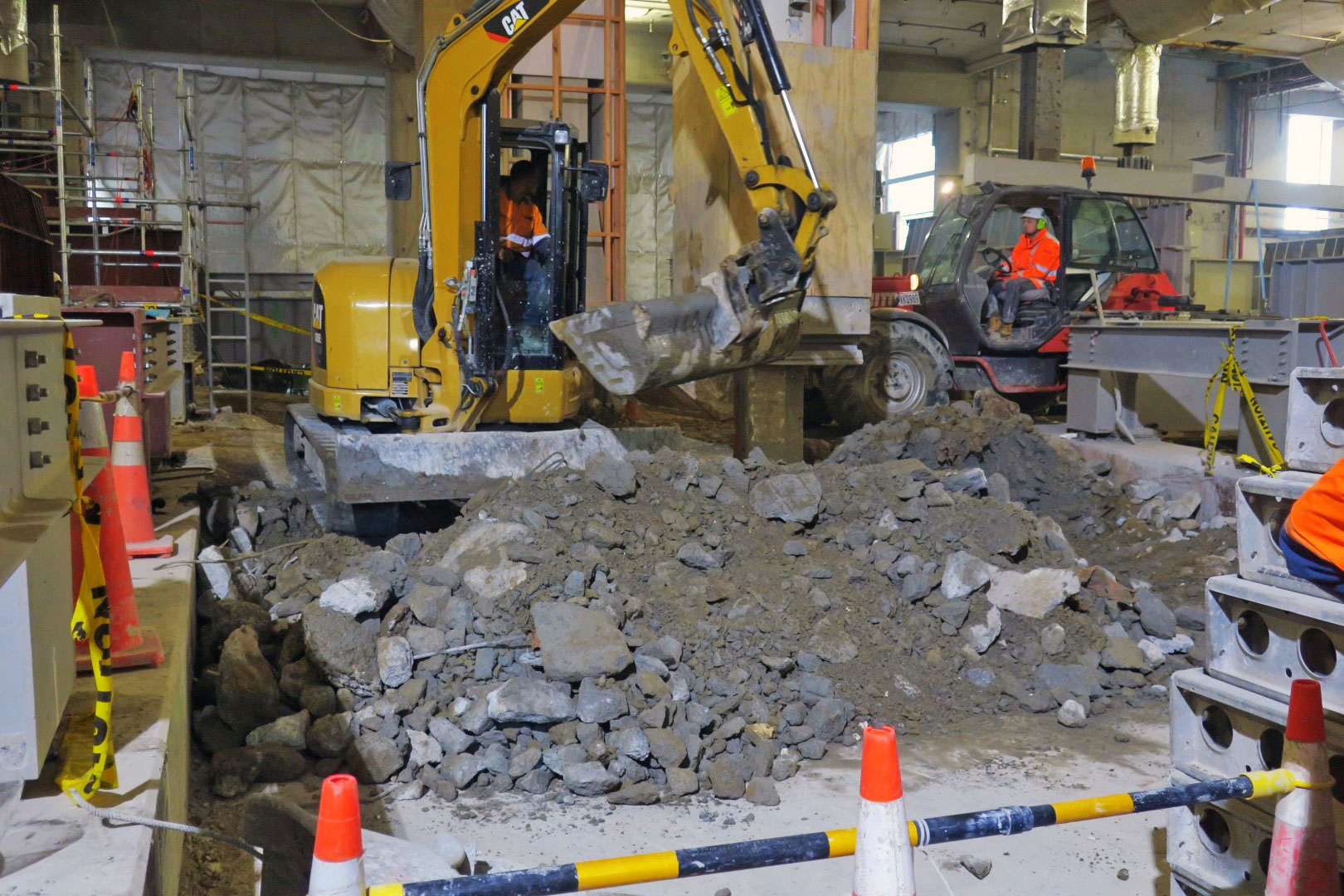 Copy of Excavation of former Chief Post Office floor is now underway