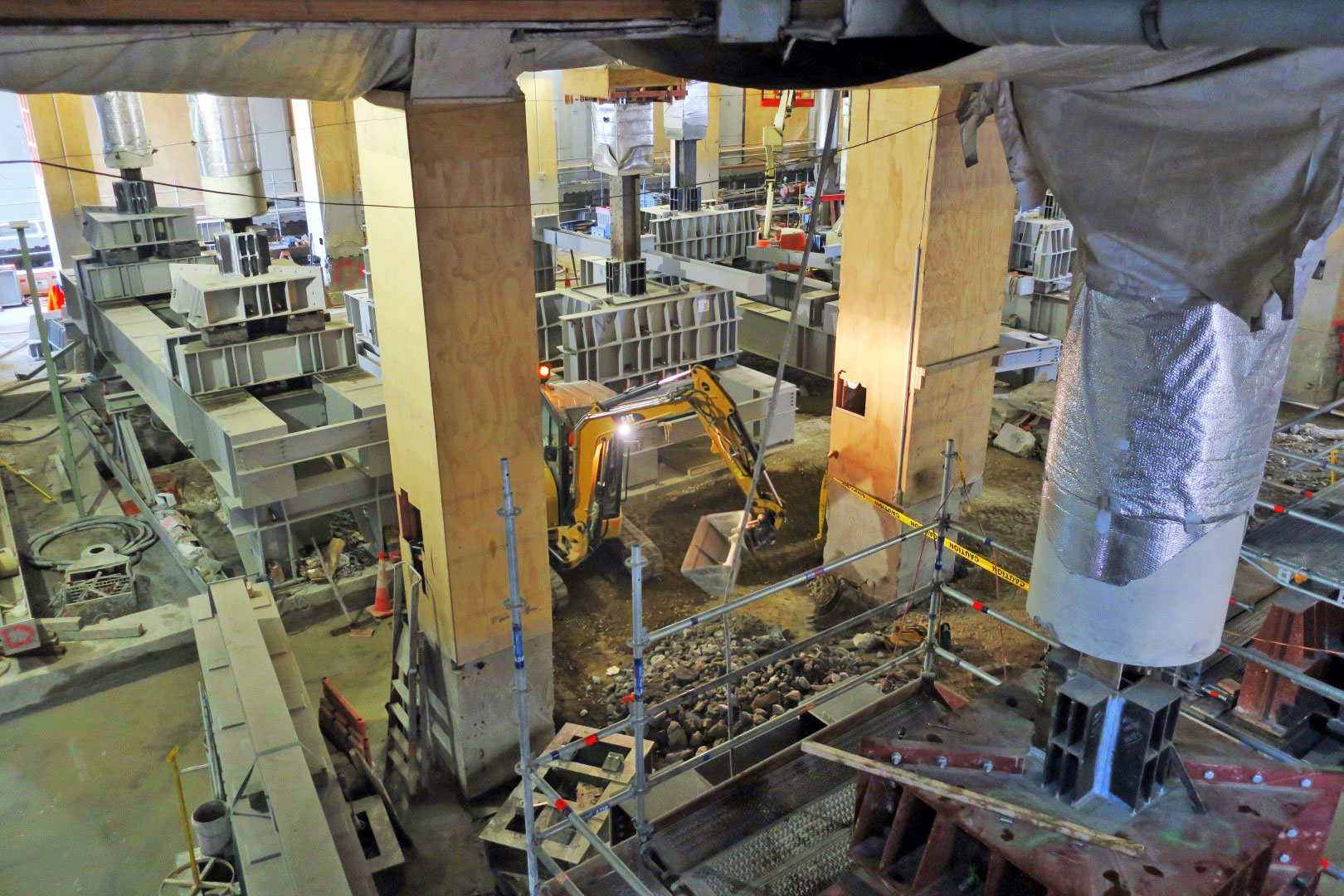 Copy of Excavation of the floor of the former Chief Post Office is now underway