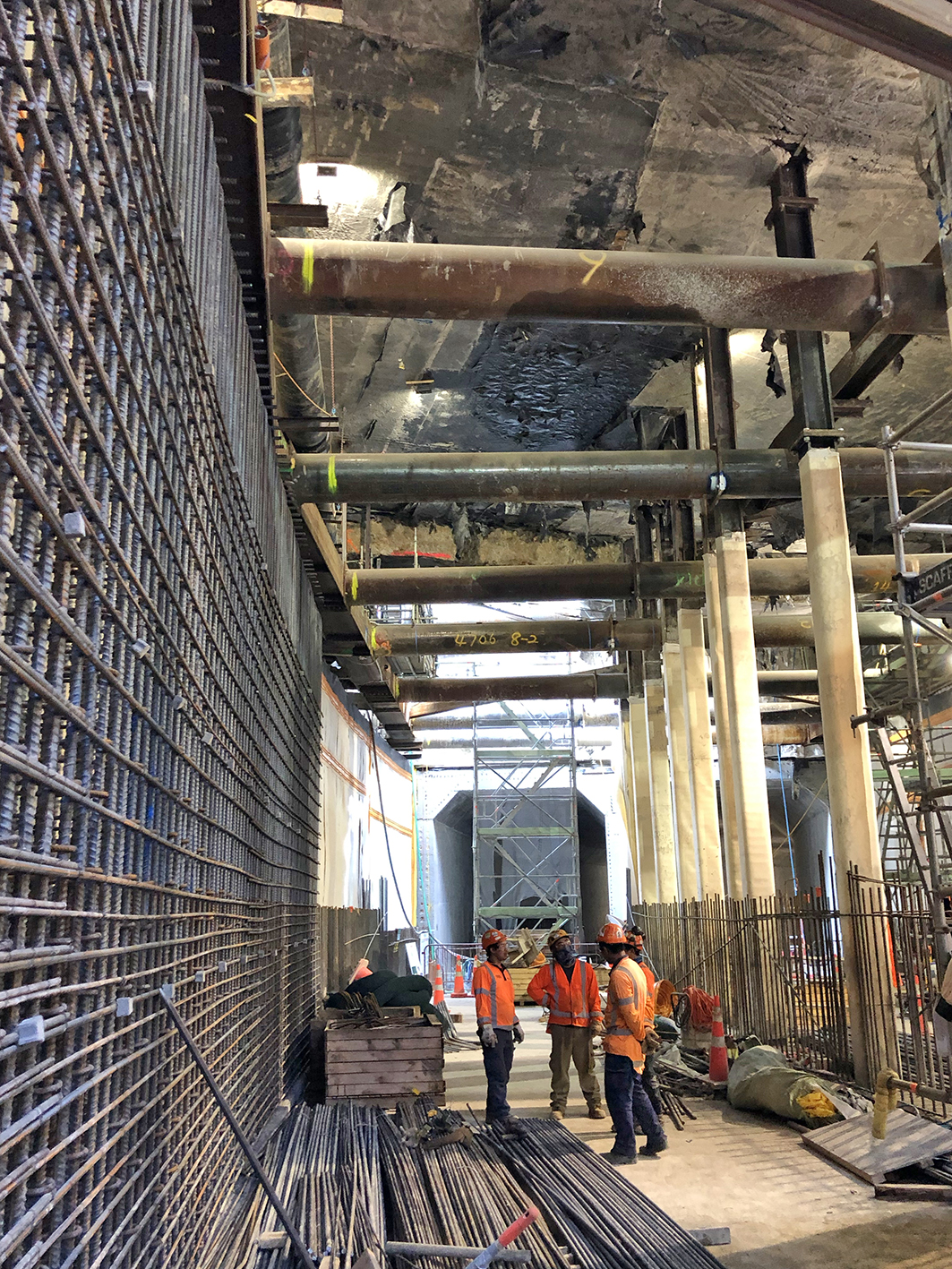 Tunnel construction CPO and Lower Queen St March 2019