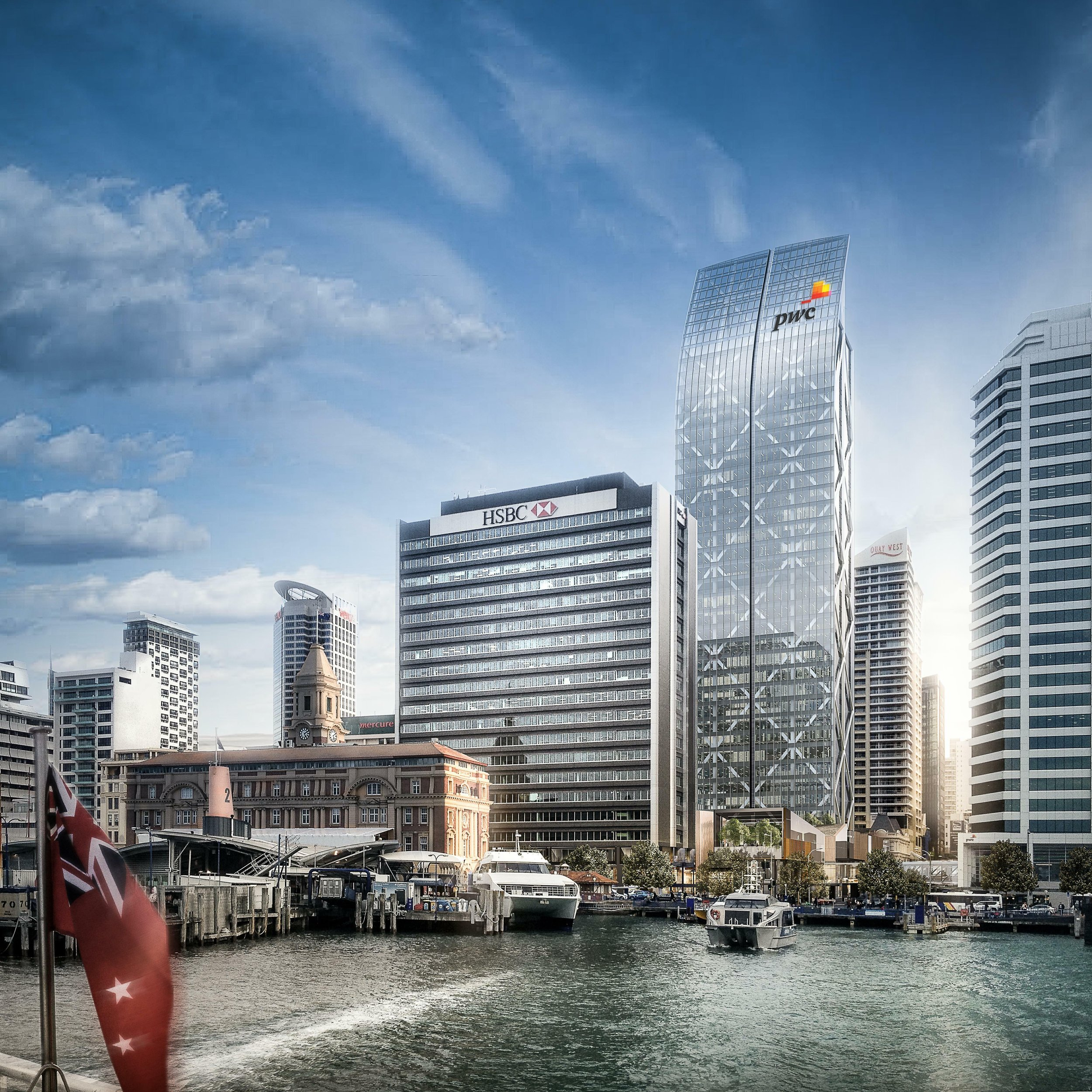 PRECINCT DEVELOPMENT: The Commercial Bay retail centre is expected to open around late 2018, with the office tower completed in mid-2019 (Image: Precinct)