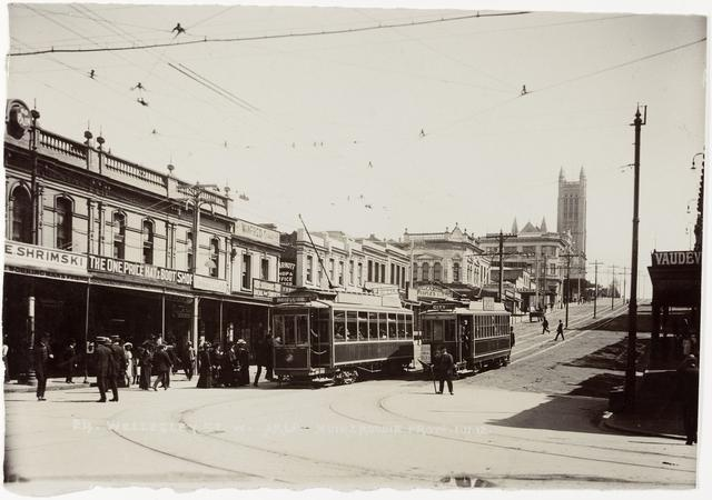 1912: Wellesley Street West (Te Papa Collection O.019317)