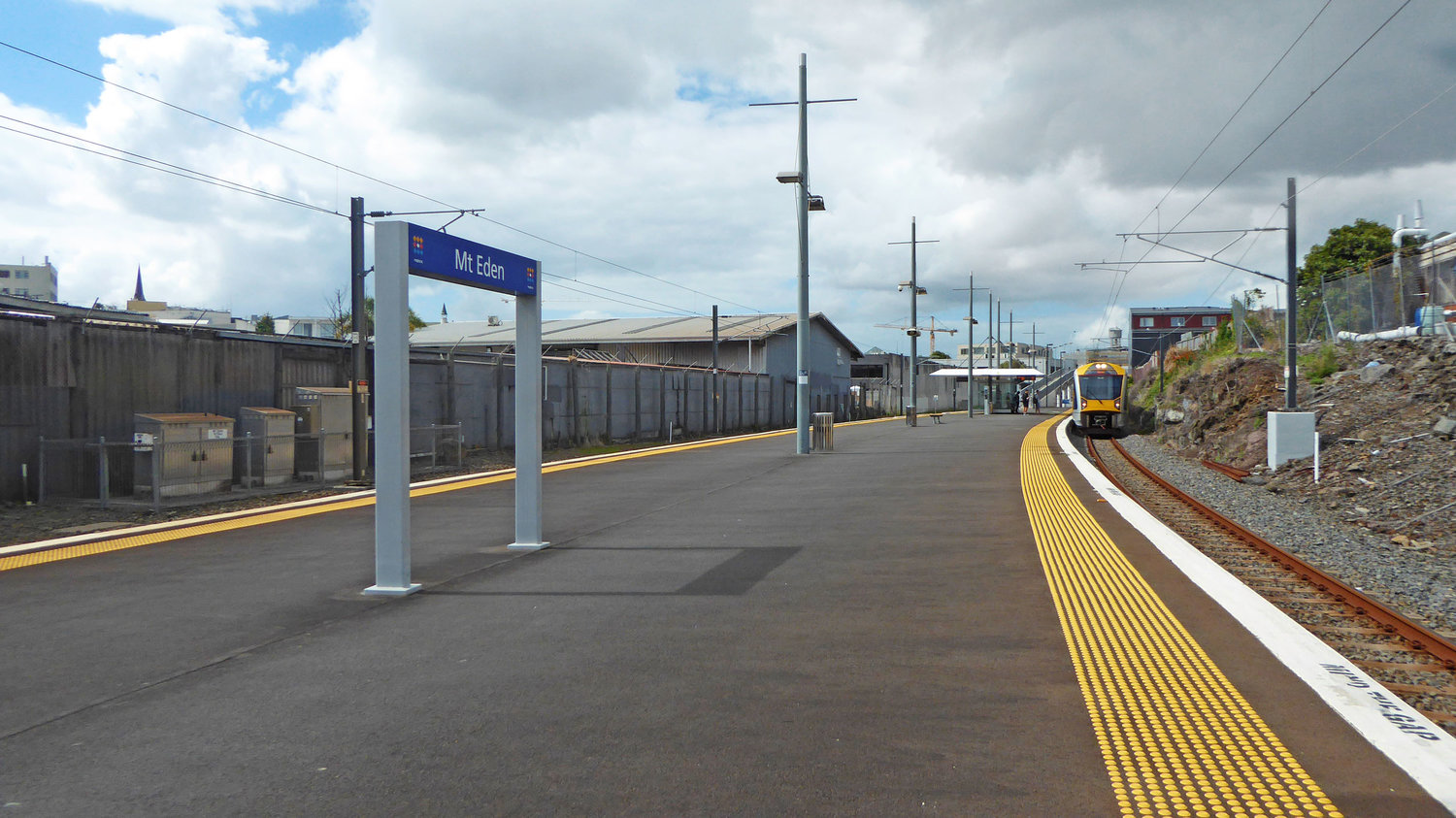 WALKWAY: The walkway to Mount Eden station platform