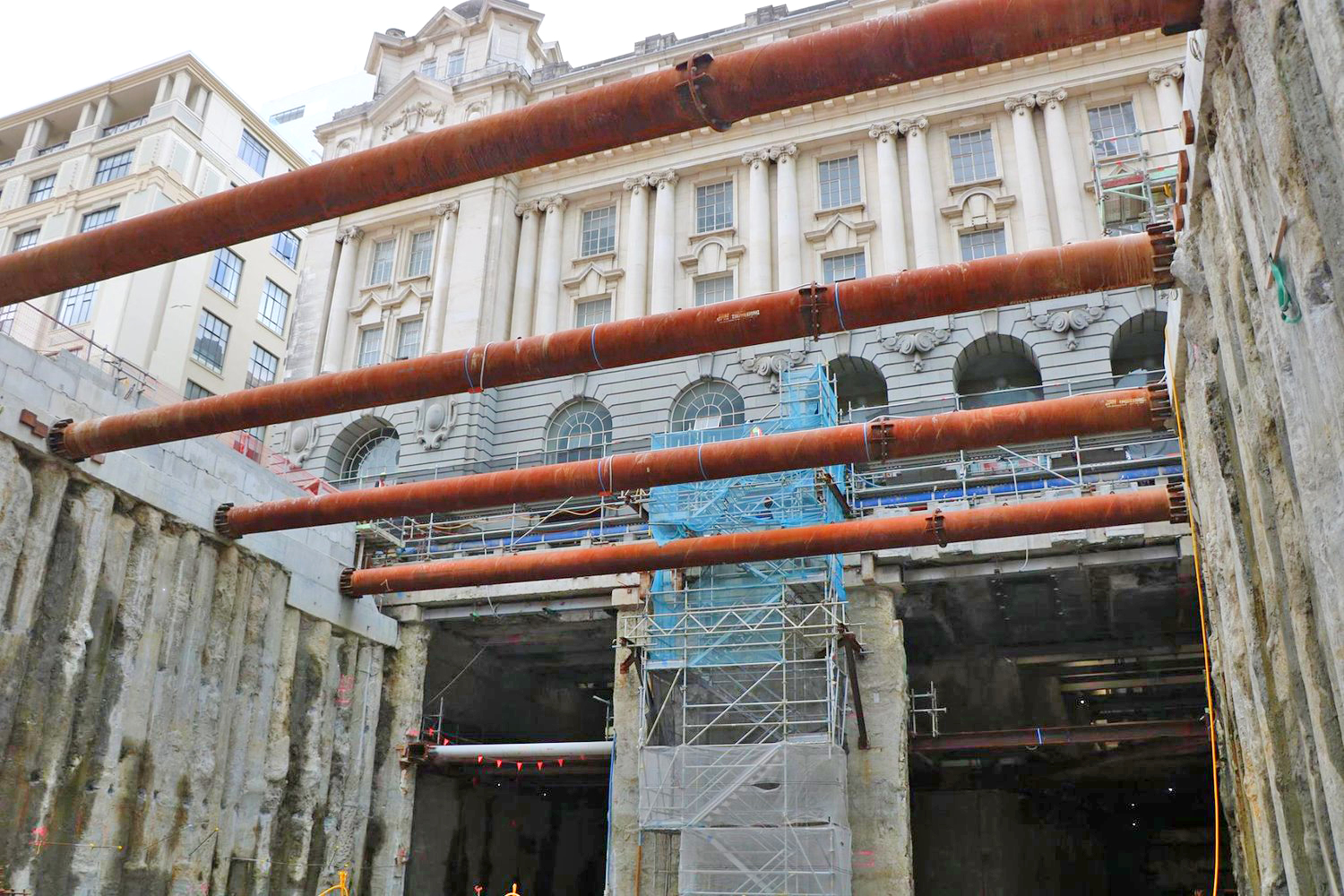 Twin tunnels appearing under CPO building