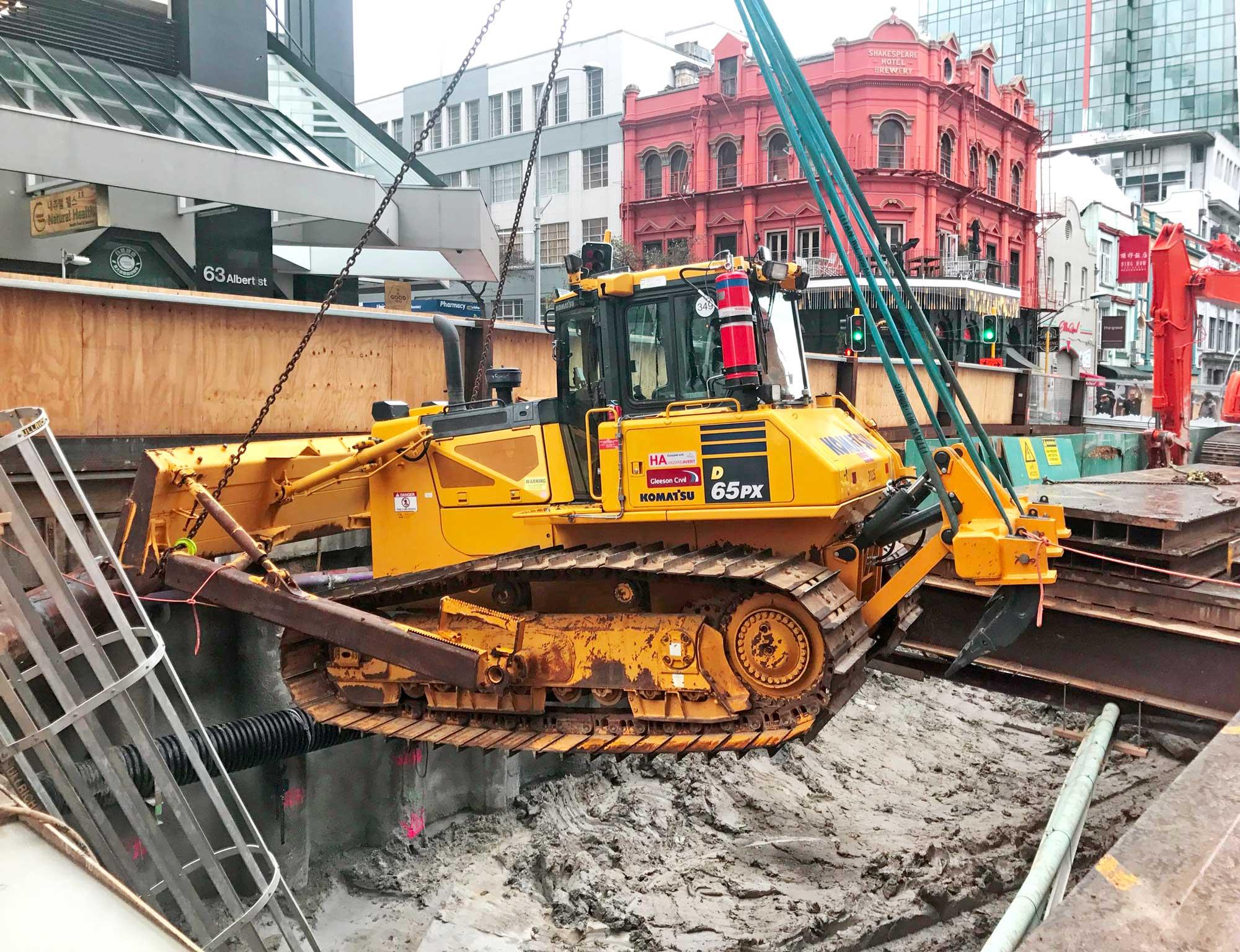 CRL construction in Albert Street August 2017