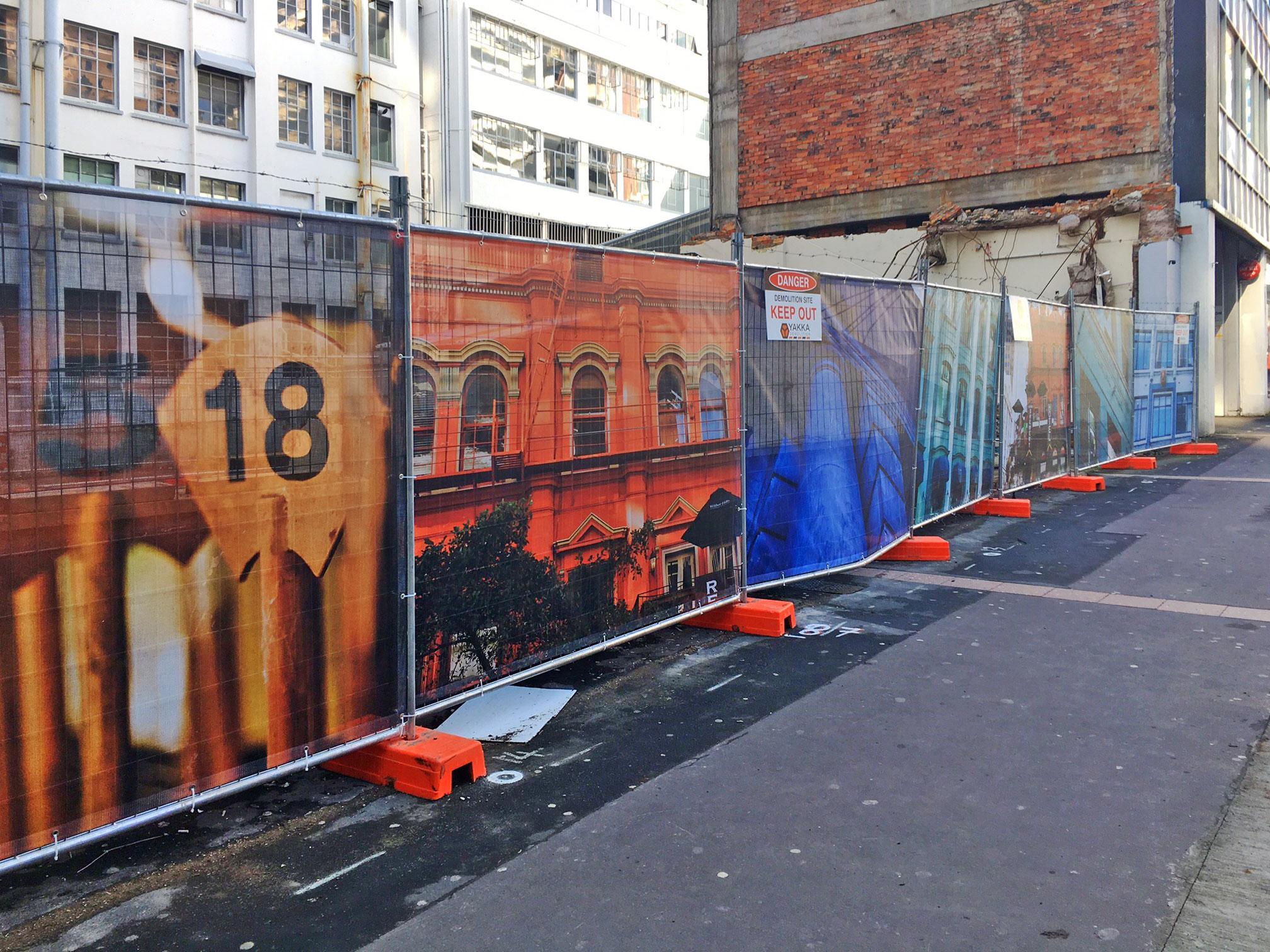 CRL hoardings Albert Street August 2017