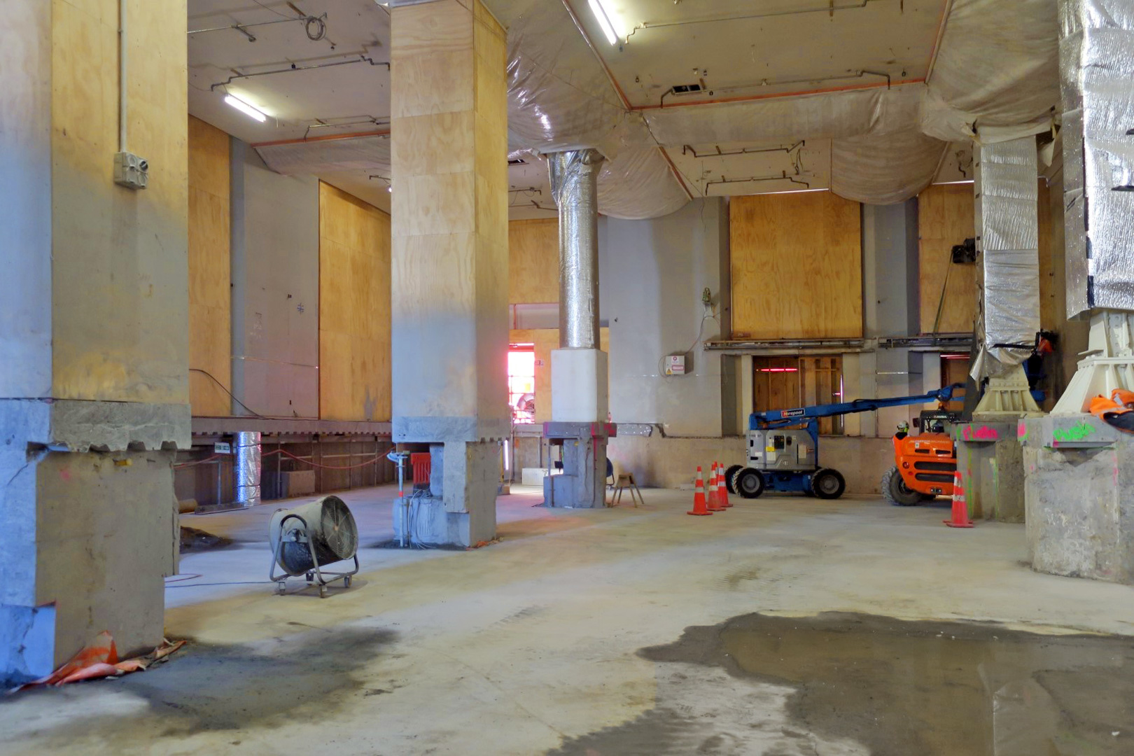 CRL construction work inside the Chief Post Office August 2017