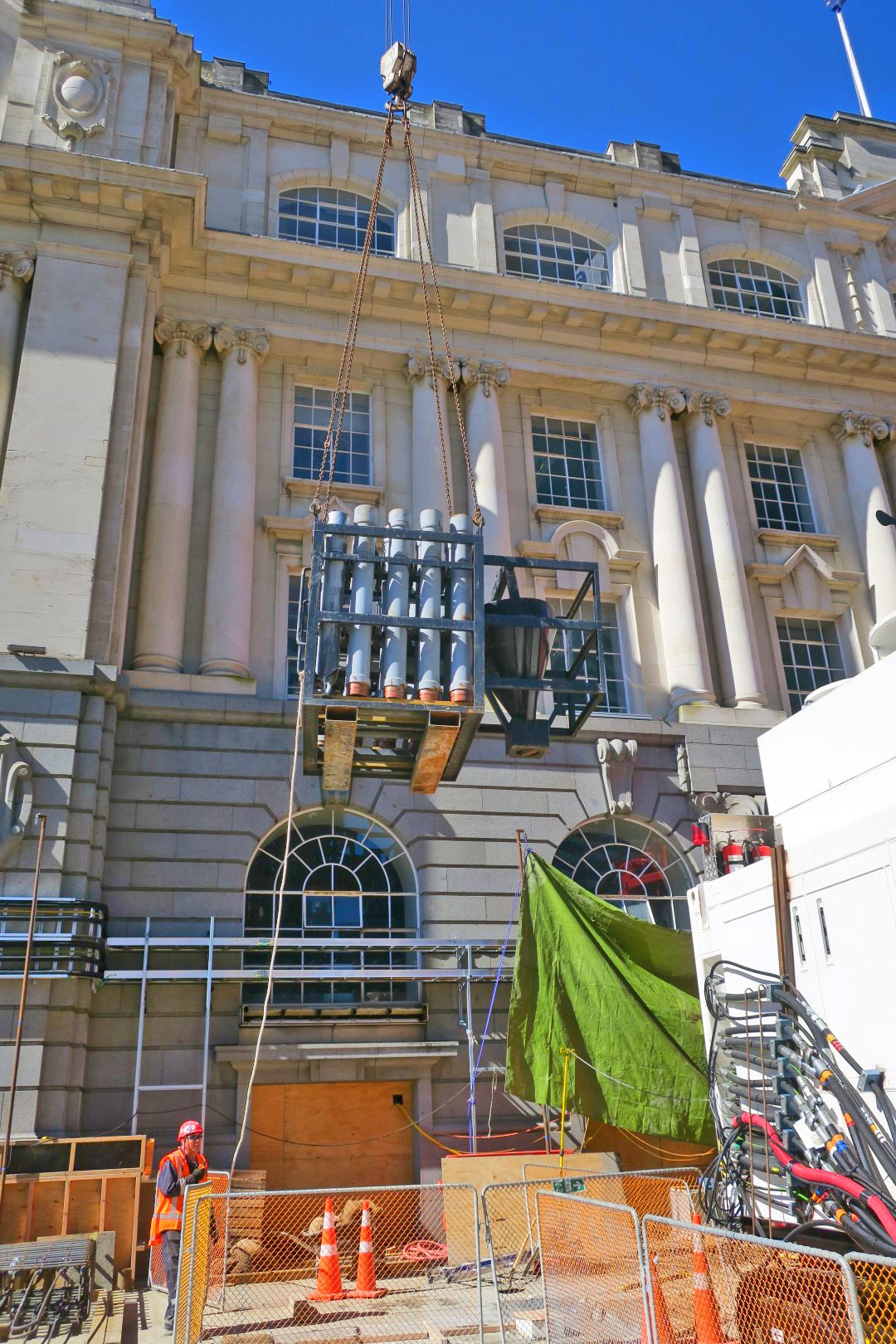 CRL construction outside the Chief Post Office in Lower Queen Street August 2017