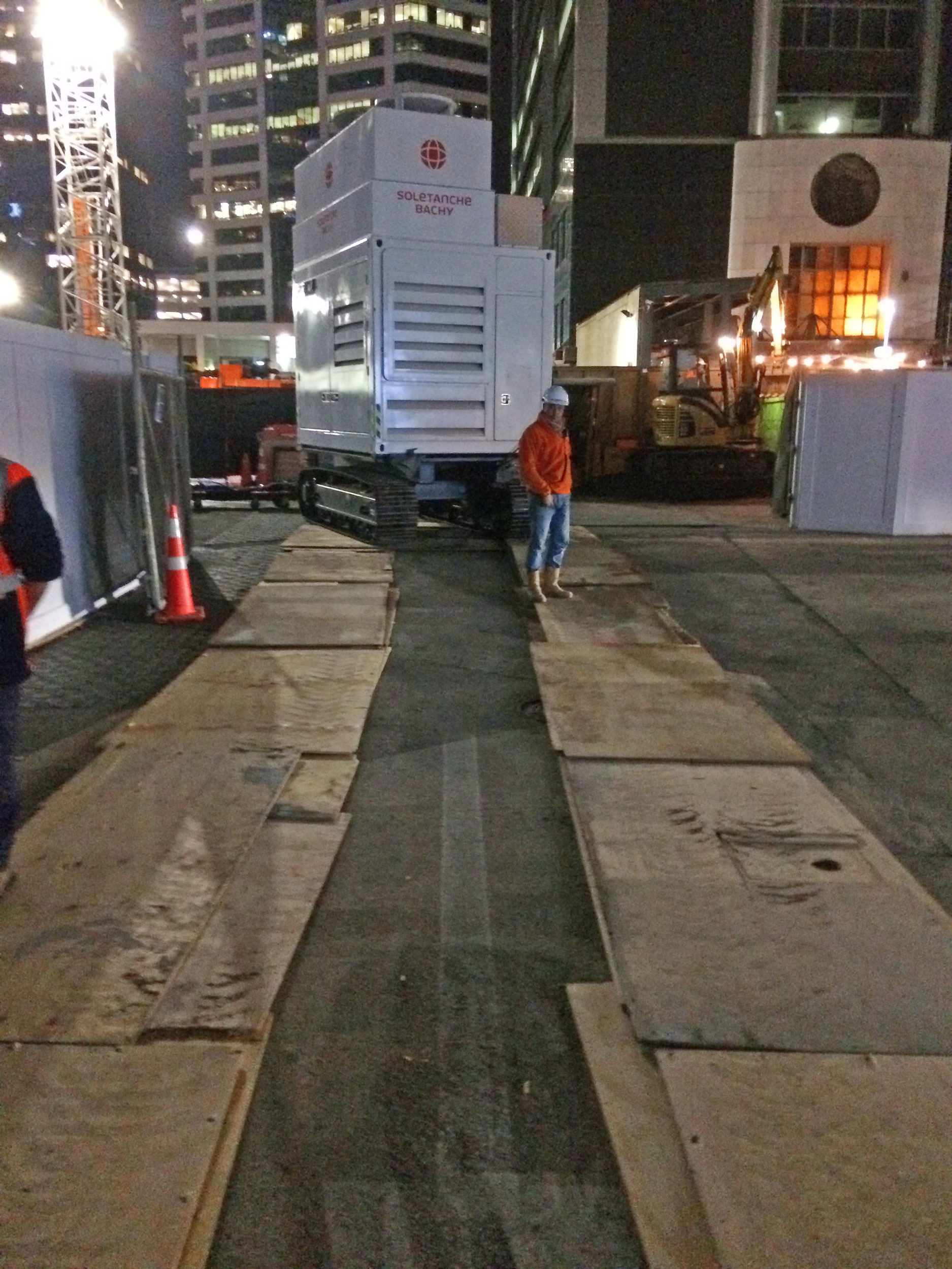 CRL construction work in Lower Queen Street August 2017