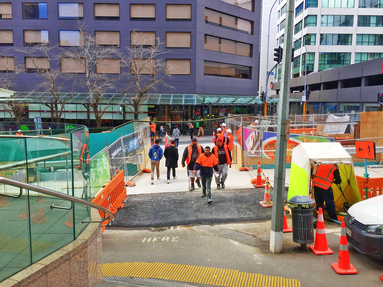 Pedestrian bridge at Swanson and Albert Streets