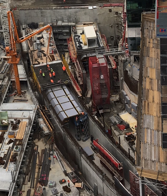 The Commercial Bay CRL tunnel construction January 2018