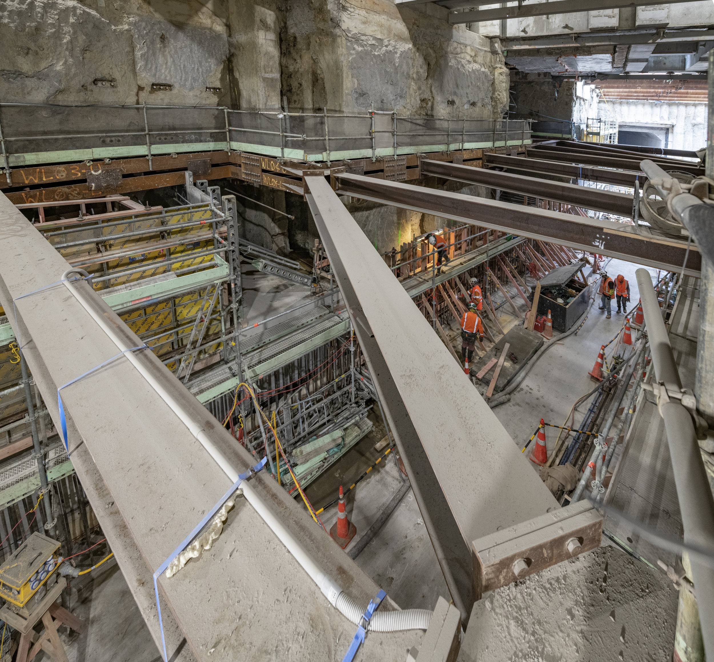 Lower Queen St tunnel work May 2019