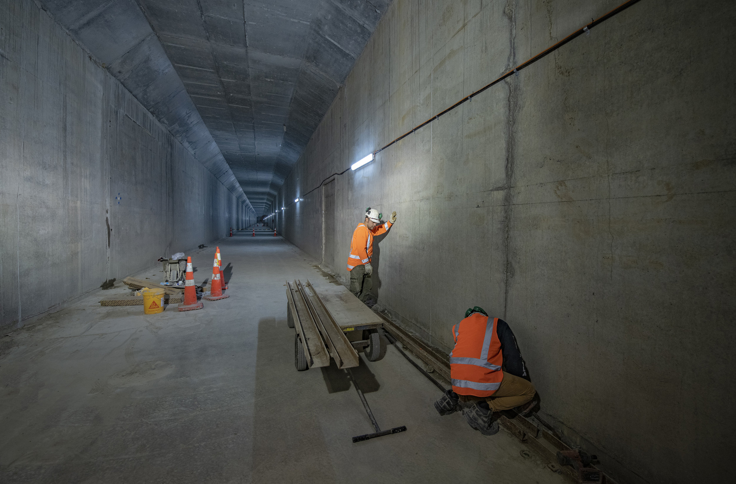 Tunnel construction 9 May 2019
