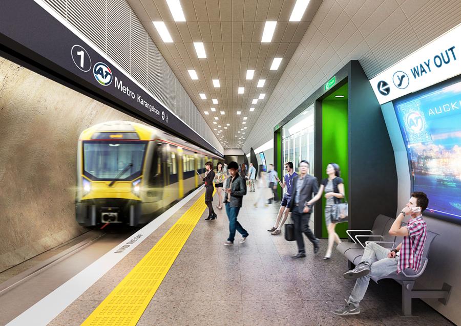 K Rd CRL station tunnel
