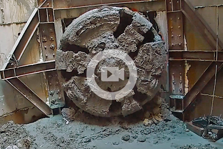 VIDEO: Tunnel boring machine Jeffie finishes Auckland City Rail Link job