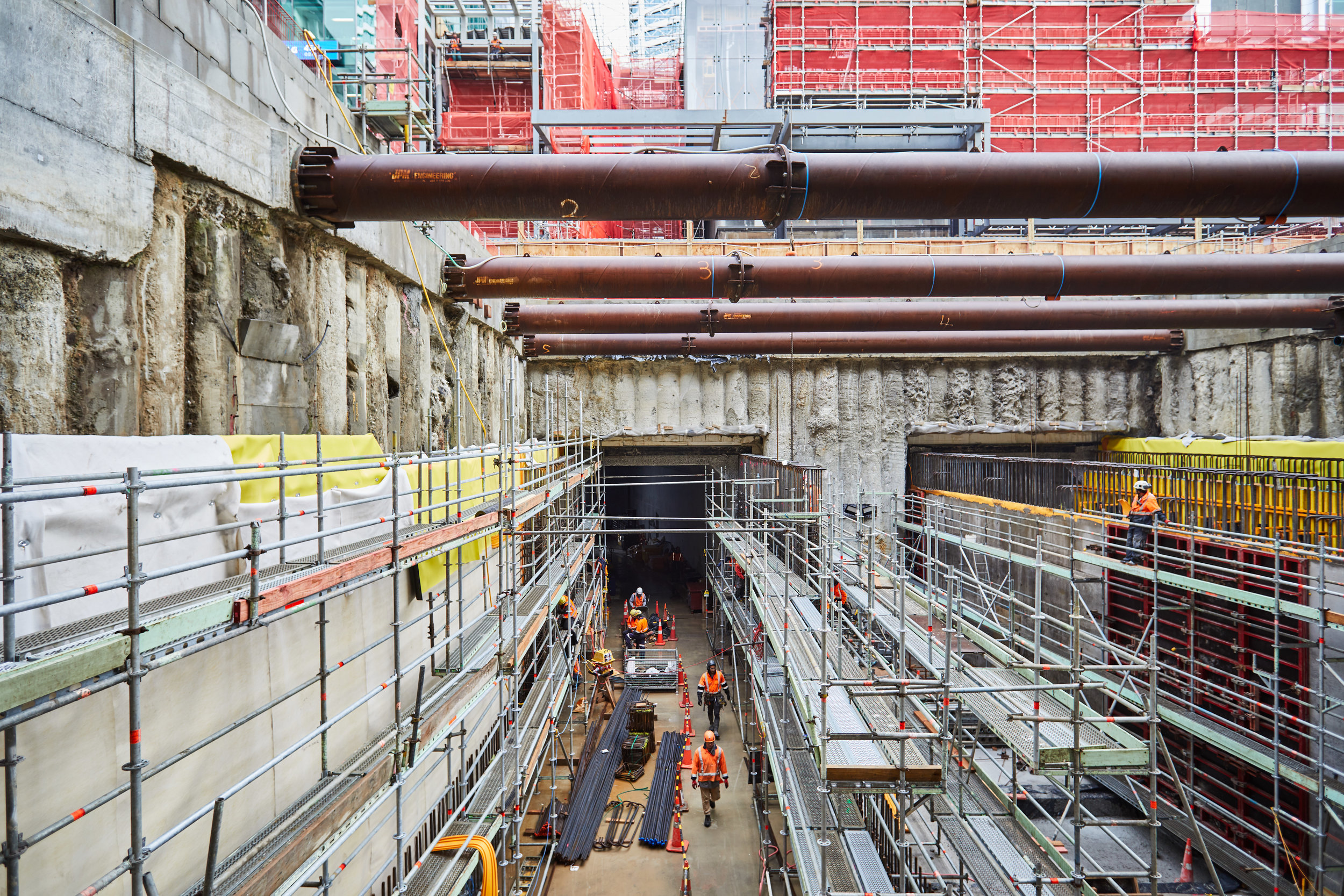 Lower Queen Street tunnel work 26 June 2019